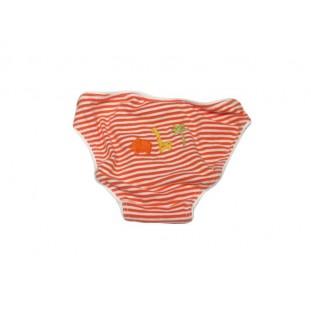 Culetín de rayas naranjas de algodón para bebé