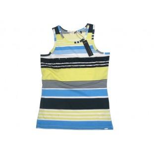 Camiseta de rayas marino y amarillo para junior de Ikks