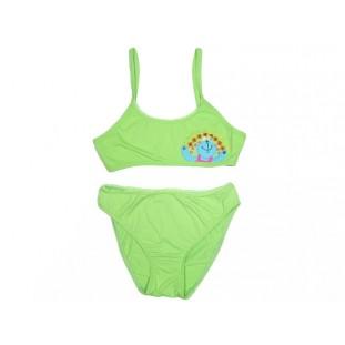 Bikini verde bordado de Guillermina Baeza para niña