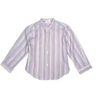 Camisa de Marca Ancar para niño en rayas malvas