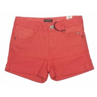 Short tejano elástico rojo para niña Marca IKKS