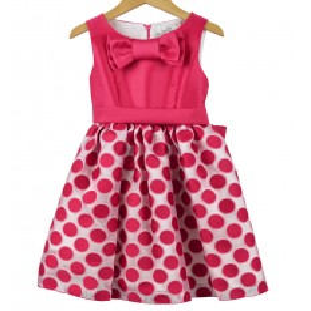 Vestido fucsia de lunares para niña de Magnífica Lulú