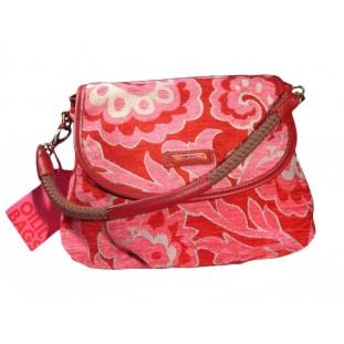 Bolso rosa y rojo con asa y bandolera Marca Oilily
