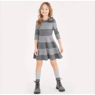 Vestido Elsy rayas grises