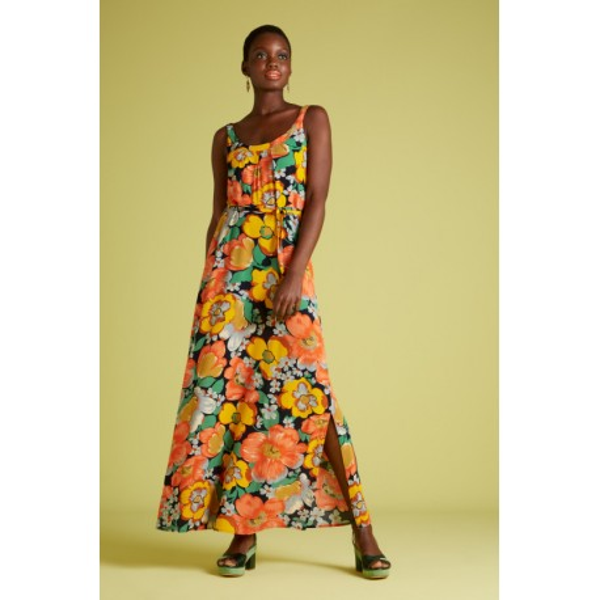 Maxi vestido de flores