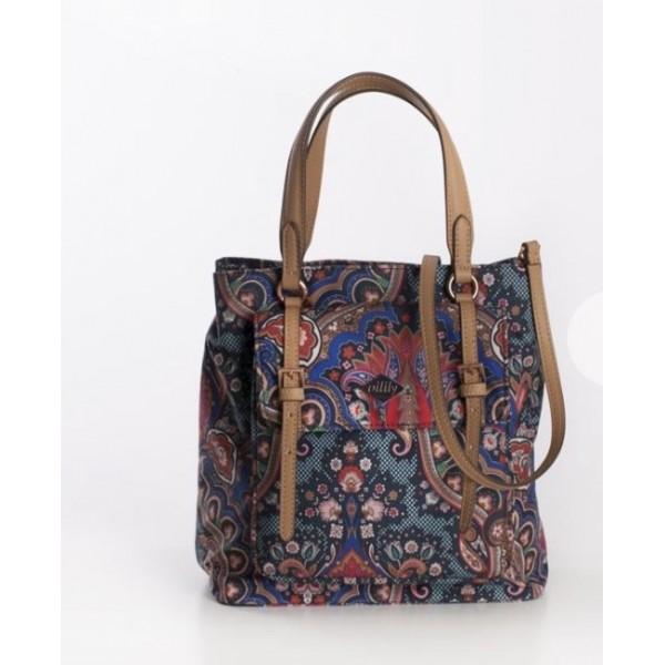 Bolso Paisley azul con tapeta