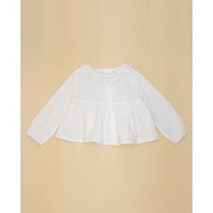 Blusa doble tela blanca de Fina Ejerique