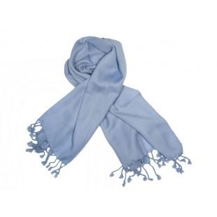 Bufanda lana azul