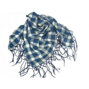 Pañuelo con flecos de cuadros azules Marca Pepe Jeans