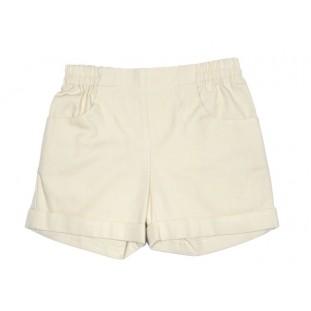 Bermuda corta en beige con bolsillos y goma para niño