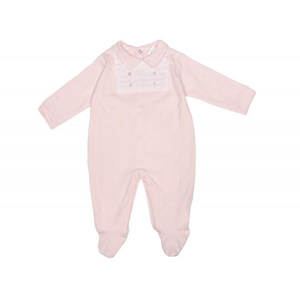 Pijama rosa de algodón con rayas Marca Minhon de bebé