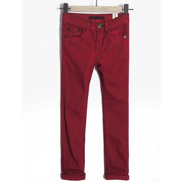 Pantalón rojo elástico para niño Marca IKKS