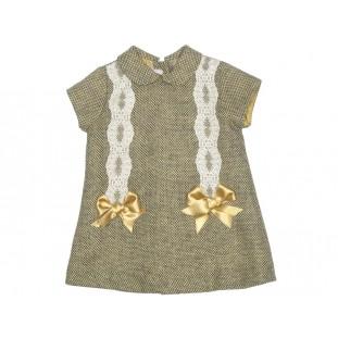 Vestido jaspeado mostaza para bebé Marca Sprint