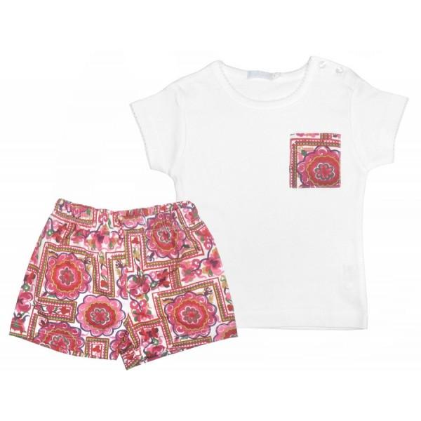 Bañador estampado en fresa y camiseta de niño de Munny