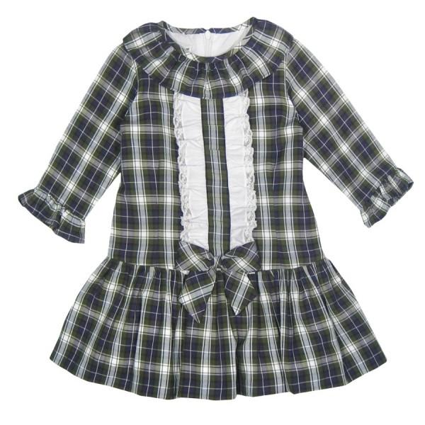 4ce85c61f Vestido escocés de talle bajo para niña Marca Sprint