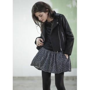 Falda negra y blanca con bolsillos de IKKS para Junior