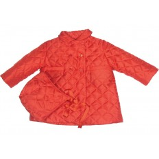Abrigo rojo acolchado con capota para bebé Marca Sprint