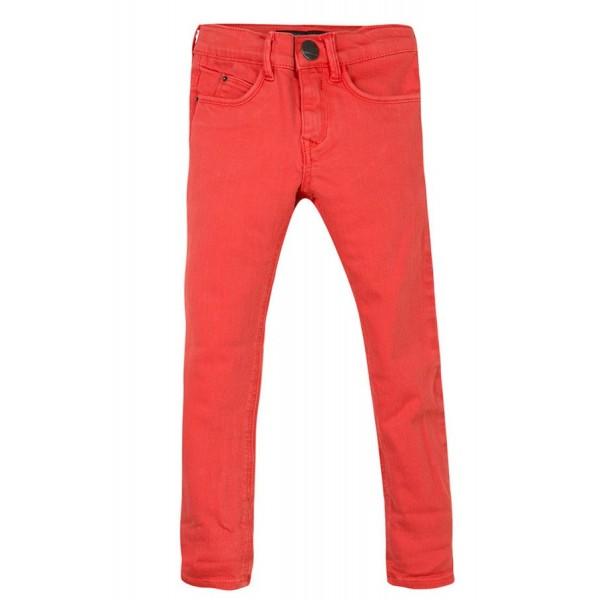 Pantalón naranja corte slim para niño de la marca IKKS