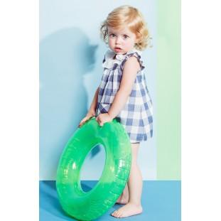 Vestido de Fina Ejerique de cuadros azules para bebé