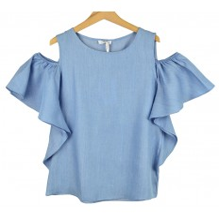 Blusa tejana azul denim para junior de Meilisa Bai