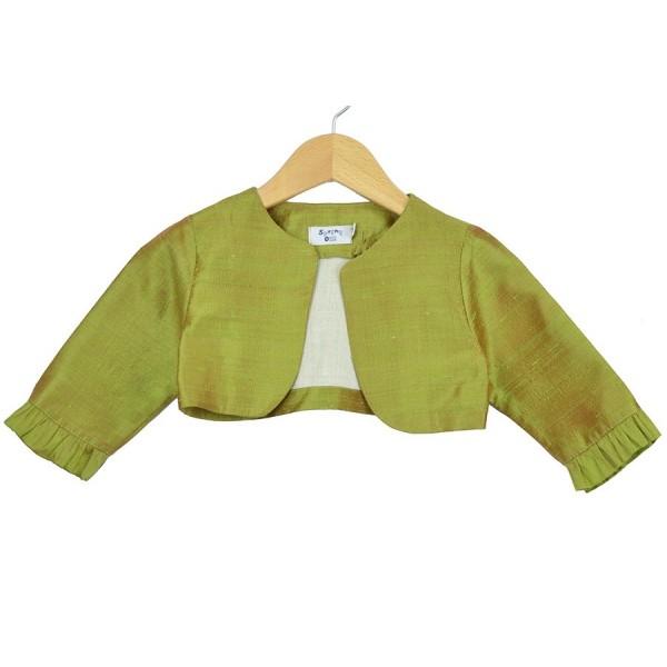Bolero de seda en verde seco para ceremonia de Sprint