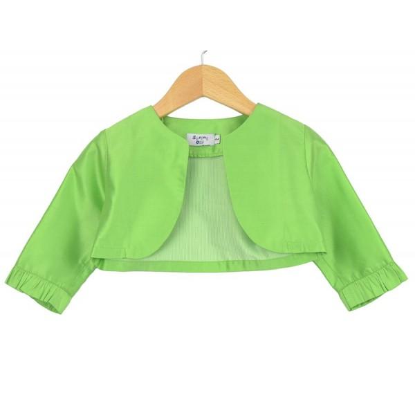 Bolero de seda verde manzana para un día especial