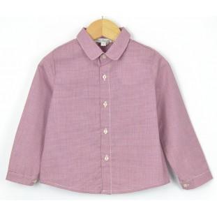 Camisa granate con manga larga marca Fina Ejerique