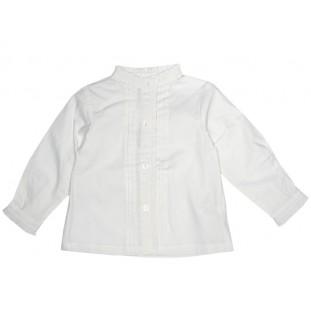Blusa blanca con jaretas para bebé Marca Schuss