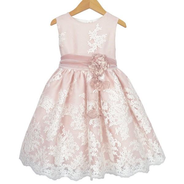 Vestido de tul bordado y organza rosa de Magnífica Lulú