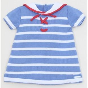 Vestido marinero de punto para bebita de Pangasa Baby
