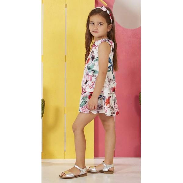 Vestido estampado de flores marca Paz Rodríguez