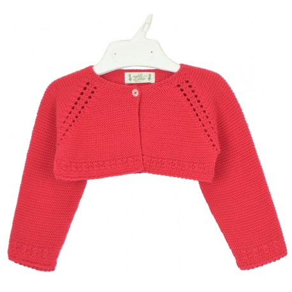 Bolero corto rojo para niña Marca Marta y Paula