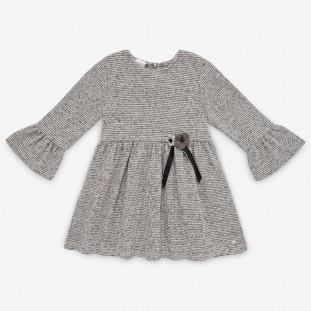 Vestido de Paz Rodriguez en punto gris
